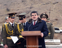 Arayik Harutyunyan partook at the event dedicated to the 25th anniversary of Krkzhan liberation