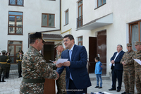 Arayik Harutyunyan partook at the opening ceremony of a new officers' district in Martuni