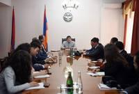 Араик Арутюнян принял группу представителей Европейской структуры Всеобщего  армянского благотворительного союза(AGBU)