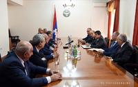 Arayik Harutyunyan received the delegation of the RA Parliament