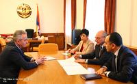 Meeting with vice-chairman of the American University of Armenia Ashot Ghazaryan
