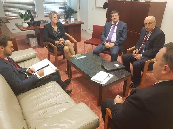 Государственный министр Арцаха встретился с сенаторами Австралии