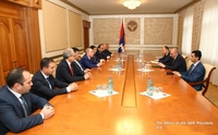 Meeting with the delegation of the Commission Regulating Public Services of the Republic of Armenia
