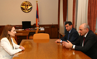 Meeting with Armenian culture minister Lilit Makounts