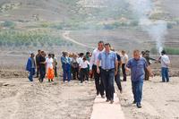 В Кашатаге начался  сбор  урожая: Араик Арутюнян провел рабочий обход