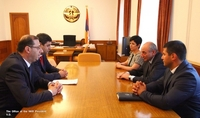 Meeting with Armenian minister of sport and youth affairs Levon Vahradyan
