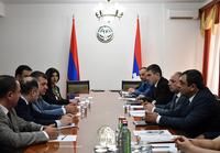State Minister G. Martirosyan held discussions with the RA minister of transport, communication and information technologies