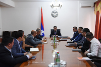 State Minister meets representatives of commercial banks and credit organizations operating in Artsakh
