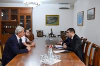 Պետնախարար Մարտիրոսյանի մոտ քննարկվել են «Գանձասար» գիտամշակութային կենտրոնի հետ համագործակցության հարցեր