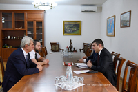"State Minister Martirosyan discussed issues of cooperation with ""Gandzasar"" scientific-cultural centre"