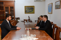 Artsakh State Minister receives head of the State Control Service of the Republic of Armenia