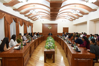 State Minister Martirosyan received a group of students of Artsakh State University