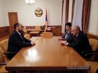 Президент принял исполняющего обязанности министра образования и науки Республики Армения Араика Арутюняна