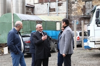 Visit to the construction site of new apartment buildings being built in capital Stepanakert