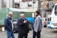 Посещение строительной площадки возводимых в Степанакерте жилых зданий